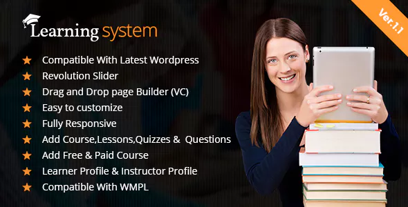 Download LMS WordPress Theme| Education | Elearning | Online Course | LMS Theme nulled 00 Preview