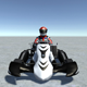 Low Poly Kart With Player 12 - 3DOcean Item for Sale