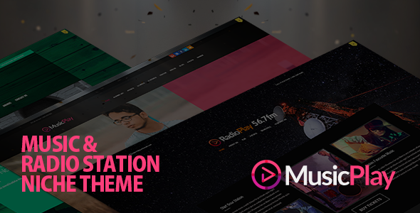 Download MusicPlay – Music & DJ Responsive WordPress Theme nulled 01 Preview
