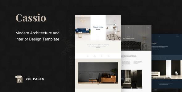 Cassio – Modern Architecture PSD Template