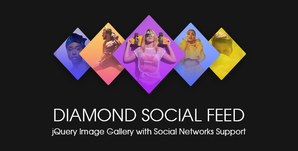 Diamond Social Feed - jQuery Image Gallery with Social Stream