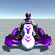 Low Poly Kart With Player 14 - 3DOcean Item for Sale
