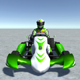 Low Poly Kart With Player 15 - 3DOcean Item for Sale