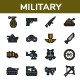 Military - Filled Outline Icons Style - GraphicRiver Item for Sale