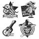 Set of Mexico Emblems - GraphicRiver Item for Sale