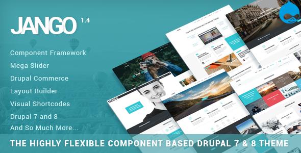 Jango | Wysoce elastyczny motyw Drupal 7 i 8 oparty na komponentach