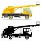 Aerial Platform Truck - GraphicRiver Item for Sale