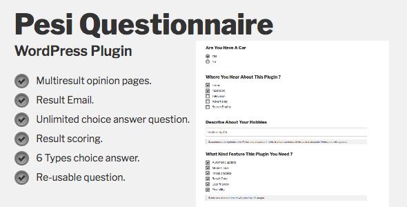 Pesi Questionnaire - Multiresult Survey and Quiz WordPress Plugin