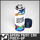 Spray Paint Can Mock-Up - GraphicRiver Item for Sale