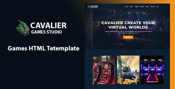 Cavalier - Gaming Studio HTML Template