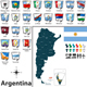 Map of Argentina with Flags - GraphicRiver Item for Sale