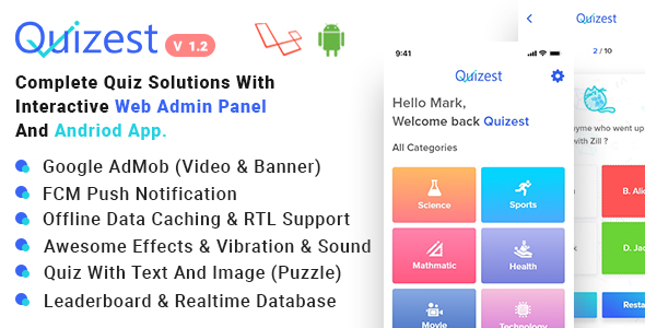 Android Quiz App Plugins, Code & Scripts from CodeCanyon