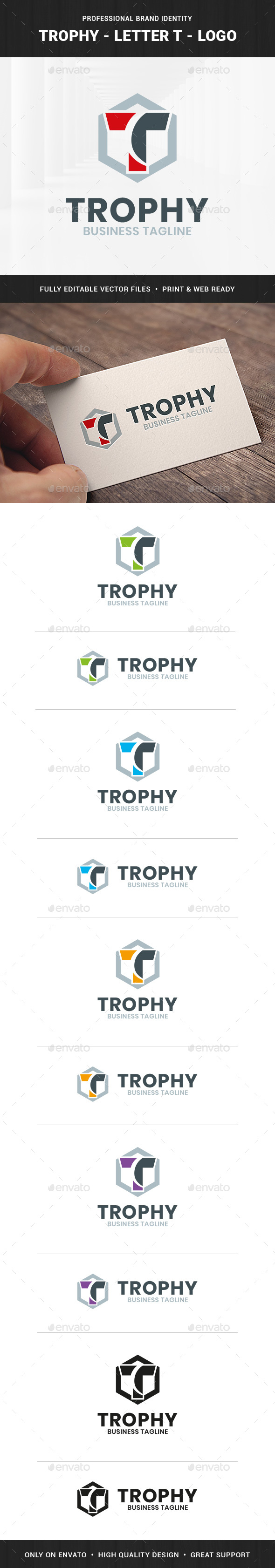 Trophy - Letter T Logo