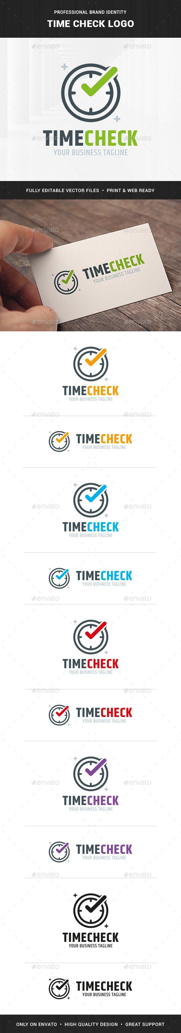 Time Check Logo Template