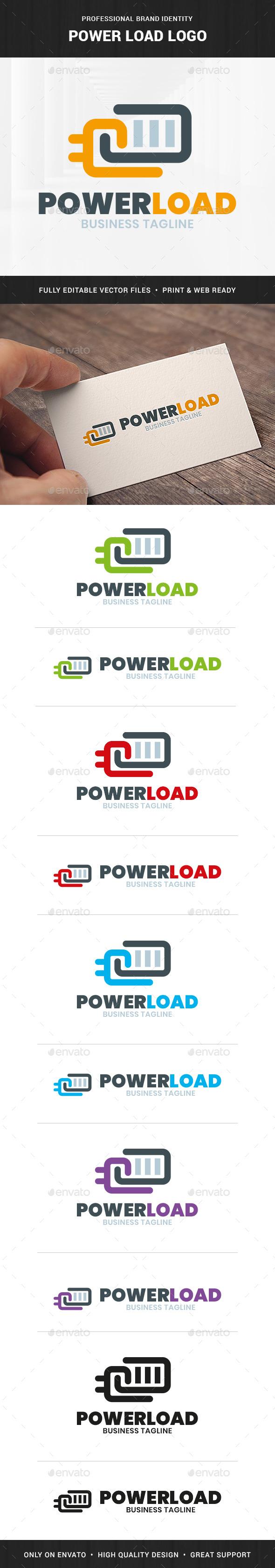 Power Load - Battery Logo Template