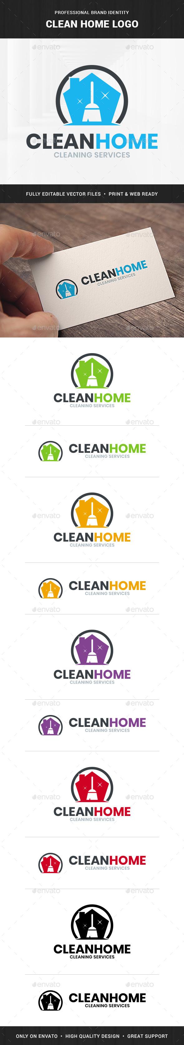 Clean Home Logo Template