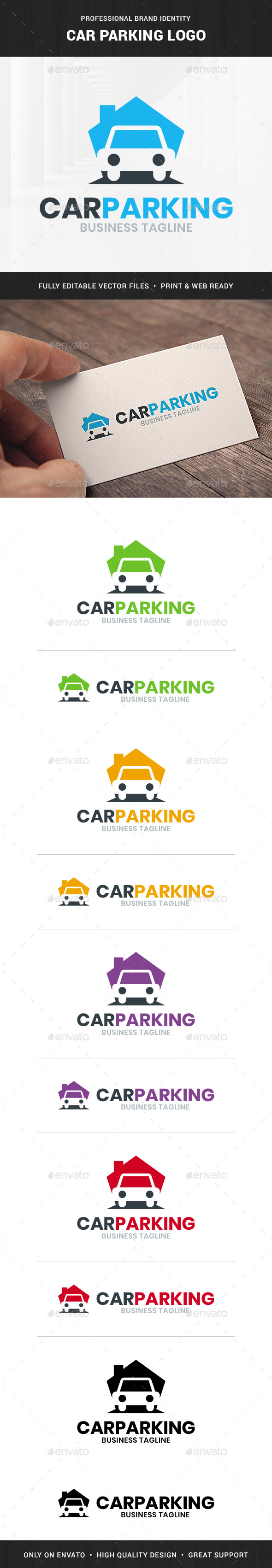 Car Parking Logo Template