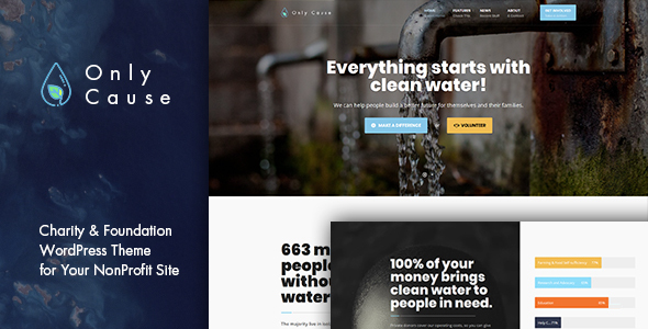 Only Cause - Charity & Foundation WordPress Theme