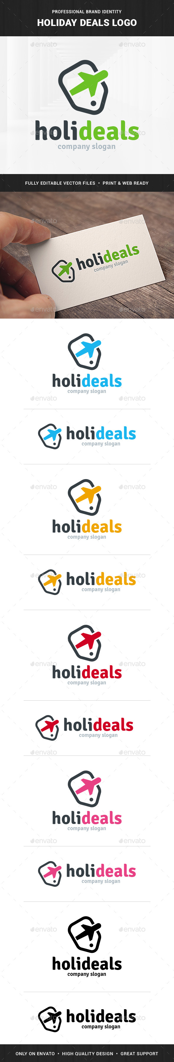 Holiday Deals Logo Template