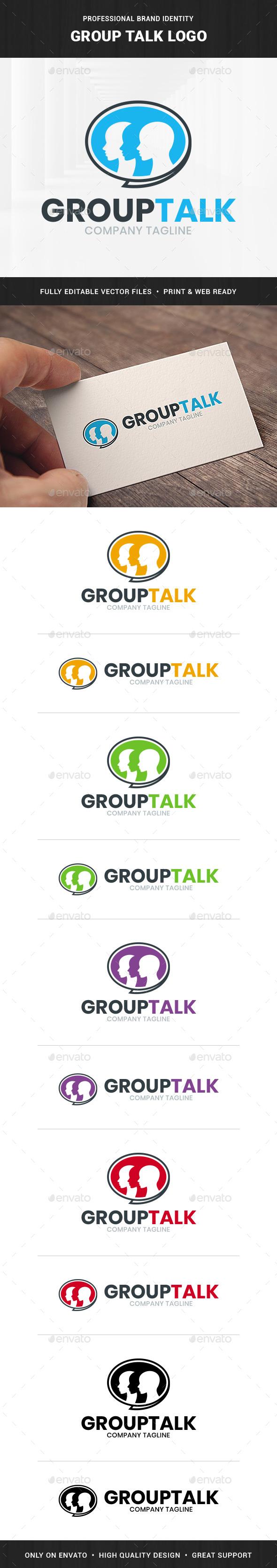Group Talk Logo Template