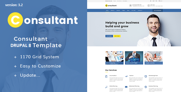 Consultant – Multipurpose Corporate Drupal 8.6 Template