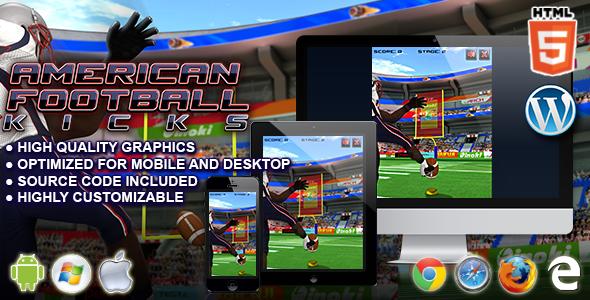 Futbol amerykański - gra sportowa HTML5