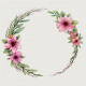 Watercolor wreath with flowers - GraphicRiver Item for Sale