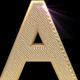 3D Renderd Golden Wave Letters - GraphicRiver Item for Sale