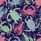 Vector Seamless Colourful Marine Pattern - GraphicRiver Item for Sale