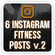 Instagram Fitness Posts - GraphicRiver Item for Sale