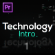 Technology Intro for Premiere Pro - VideoHive Item for Sale