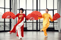 Couple of senior masters practicing qi qong taijiquan - PhotoDune Item for Sale