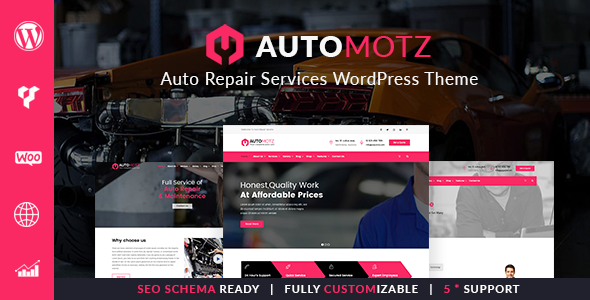 Automotz -  Auto Repair Services WordPress Theme