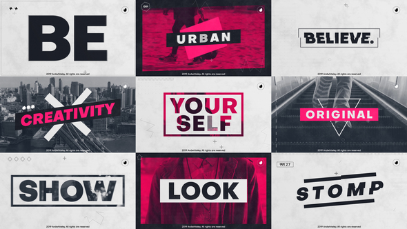 Fashion Urban Promo - For Youtube / Event / Intro/ Sport / Stomp / Portfolio / Slideshow