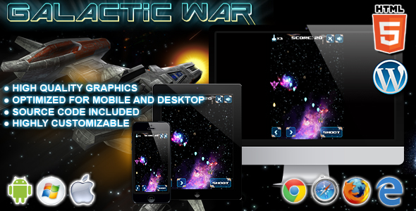 Galactic War - gra HTML5