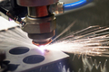 cutting steel with a laser - PhotoDune Item for Sale