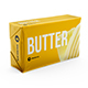 Butter 200g. Front 3/4 view. Mockup - GraphicRiver Item for Sale