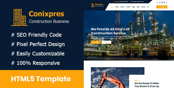 Conixpress - Construction Business HTML5 Template