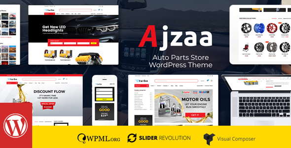 Ajzaa - Auto Parts Store WordPress Theme