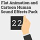 Flat Animation and Cartoon Human Sound Effects Pack - AudioJungle Item for Sale