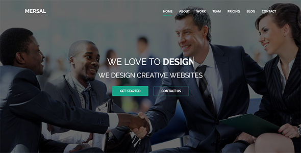 Mersal - One Page MultiPurpose WordPress Theme