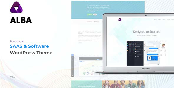 Alba - Startup/Software WordPress Theme