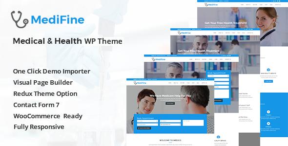MediFine - Health and Medical WordPress Theme