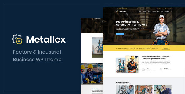 Metallex - Industrial And Engineering WordPress Theme
