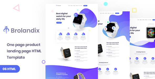 Single product landing page
