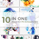 10 in One Mixed Art PS Action Bundle - GraphicRiver Item for Sale