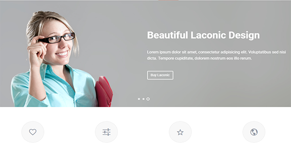 Laconic - Modern Business/Corporate WordPress Theme