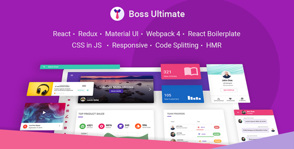 Material Design React Website Templates from ThemeForest