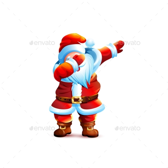 Father Frost Christmas Character Dancing Dab Step