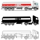 Industry Concept Set of Gasoline Trucks - GraphicRiver Item for Sale
